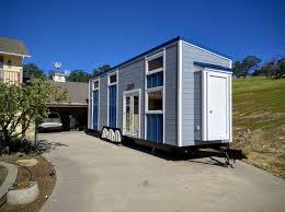 tiny house town modern blue tiny house