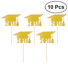 graduation cap toppers 10pcs 2018 graduation cap cupcake toppers cake topper toothpicks