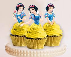 princess cupcake toppers cenicienta bella aurora elsa blanca