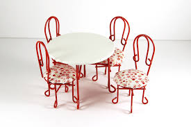 ice cream parlor table and chairs set red and white ice cream parlor table set dollhouse alley