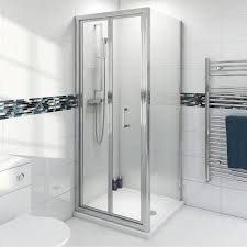 Infold Shower Door by Clarity 4mm Bifold Square Enclosure Victoriaplum Com