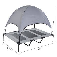 Dog Bed With Canopy Pawhut 48