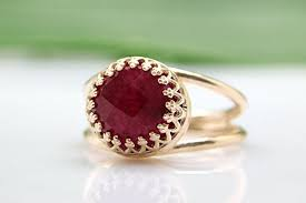 bridal gold ring delicate ruby ring gold ring gemstone ring july