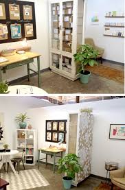 brilliant diy bookcase divider design bright