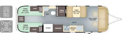 trailer floor plans floorplans classic airstream air 2017