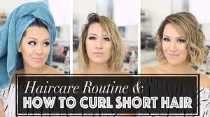 how to curl short hair 101 ann le youtube