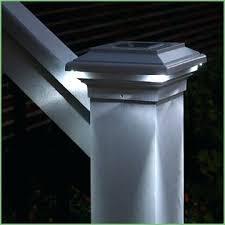 wilson and fisher solar lights solar light for deck post lighting solar post cap 4 5 8 black solar