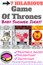 game of thrones baby shower print my baby shower