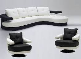 White And Black Sofa Set by White Sectional Leather Sofa Modern Alleycatthemes Com