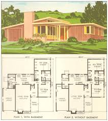 ranch house plan house plans 1954 modern mid century ranch house plans a frame