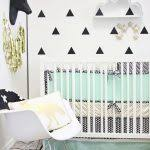 nurseries design white crib with black and white ruffle crib