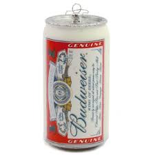 buy kurt adler budweiser can ornament in cheap