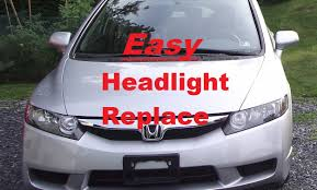 honda civic 2010 change how to install a headlight bulb on 2010 honda civic lx