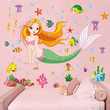 bedroom little mermaid bedroom theme using small pink comfort