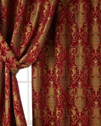 Classics Curtains Horn Classics Two 96 L Scarlet Curtains