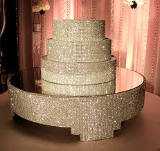 rhinestone cake stand cake stand and separators package