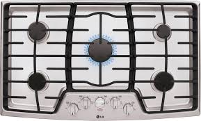 Lg Downdraft Cooktop Lg Lcg3611st 36 Inch Gas Cooktop With Superboil 5 Sealed Burners