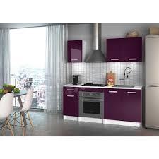 salle de bain aubergine et gris start cuisine complète 1m80 aubergine haute brillance achat