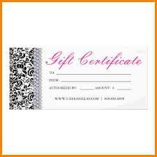 salon gift card 7 salon gift certificate template sle of invoice salon gift