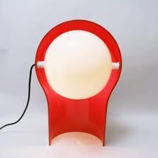 Red Desk Light 2 X Telegono Red Desk Lamp By Vico Magistretti For Artemide 1960s