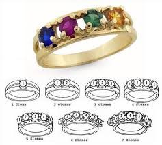 mothers ring 7 stones silver 1 to 7 stones s ring