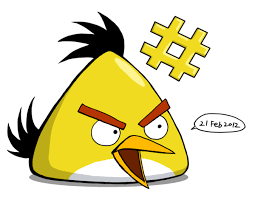 angry yellow bird coloured riverkpocc deviantart