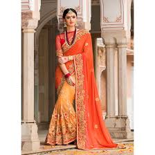 Apricot Color Apricot Color Saree Sku No Dfz4970 77623