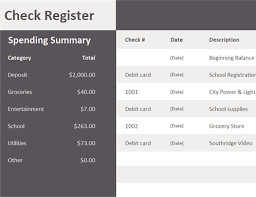 Check Register Template Excel Check Register Office Templates