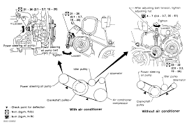 nissan sentra timing chain 1996 nissan maxima serpentine belt routing and timing belt diagrams