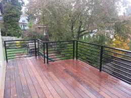 black metal horizontal deck railing ideas kimberly porch and
