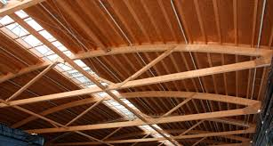 glue laminated wood beam rectangular lattice freespan truss