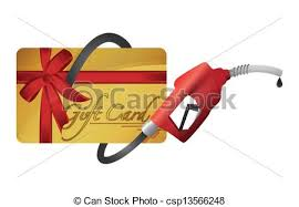 gas gift card gift card with a gas nozzle illustration design a eps
