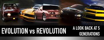 evolution of the chevy camaro evolution vs revolution a look back at five generations of camaro