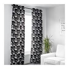 In The White Room With Black Curtains Mattram Curtains 1 Pair Ikea