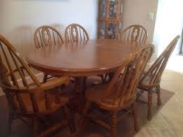Second Hand Kitchen Table And Chairs by Oak Dining Room Table Provisionsdining Com