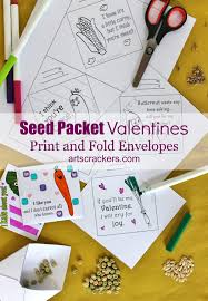 printable seed packet valentines non candy valentines