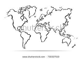 vector map of the world drawing map world vector illustration stock vector 730327510