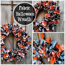 Halloween Wreath Diy Fabric Halloween Wreath Tutorial Simple Sojourns