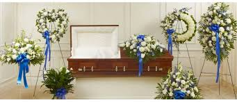 funeral arrangement blue sympathy funeral flower arrangements torontofuneralflowers