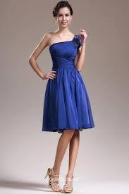 pleated one shoulder royal blue short prom dress groupdress com