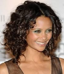 black long hairstyles with layers and side bangs for curly hair