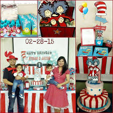 Thing One And Thing Two Party Decorations 1st Birthday Decorations Twins Image Inspiration Of Cake And