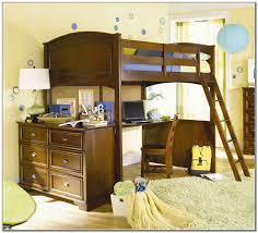 bedroom queen size loft bed concrete pillows lamp bases