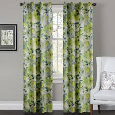 Yellow Blackout Curtains Nursery Decorating Ideas Using Green Floral Curtains And
