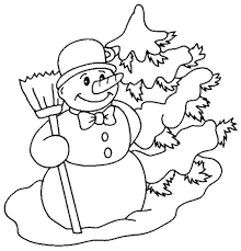 snowman coloring pages to print snowyday winter coloring pages
