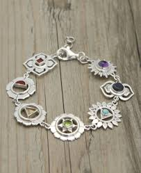 silver bracelet with pendant images Chakras charm bracelet sterling silver jpg