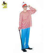 where s waldo costume where s waldo now white stripes costume men