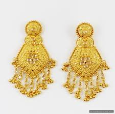 design of earrings gold 21 wonderful gold earrings for women designs playzoa