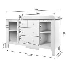 White Baby Change Table White 4 Drawer Baby Chest Change Table Dresser Cabinet Kingsbury