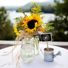 sunflower centerpiece rustic sunflower wedding centerpiece with jarwedwebtalks
